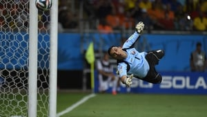 And Costa Rica goalkeeper Keylor Navas made some remarkable dives and four saves in the first, helping him to keep a clean sheet going into the half-time break