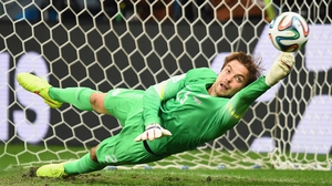 In the end, Netherlands keeper Tim Krul - who had been subbed on for the express purpose of defending the shootout - secured victory for the Dutch, by making two crucial saves