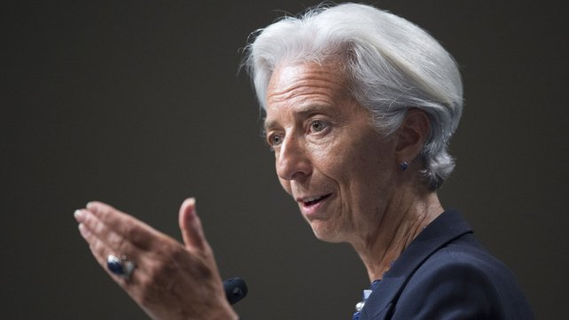 Christine Lagarde said the Fund did not expect a brutal slowdown in China