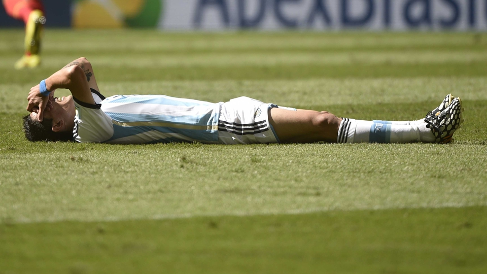 Angel di Maria injured himself in helping Argentina into the World Cup semi-final