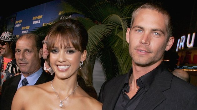 Jessica Alba and Paul Walker at the Into The Blue premiere in 2005