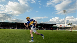 Shane McGrath was also on the mark - here he celebrates scoring a late point