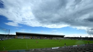 Amid ominous clouds, the Wexford v Cork camogie game took place