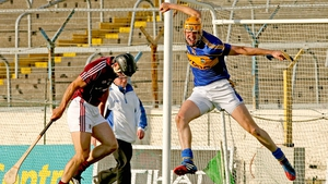 In Saturday evening's qualifier, Tipperary's Seamus Callanan was on fire - here he celebrates his third goal