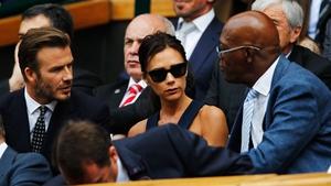David and Victoria Beckham chat to Samuel L. Jackson