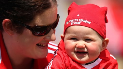 Bríd Kelly with her daughter Aidín, 7 months old, from Ballacollig, Cork at the Munster SFC final