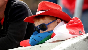 Dejection and disappointment for this young Cork fan
