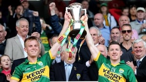 Kerry's Fionn Fitzgerald and Kieran O'Leary lifted the cup as Munster champions