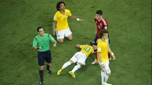 Neymar's Brazil teammate Marcelo shows concern after his injury