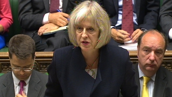 Britain's Home Secretary Theresa May made the announcement in the House of Commons today