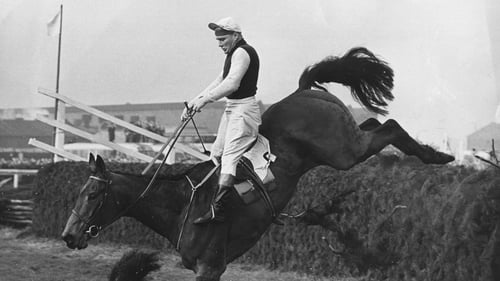 Michael Scudamore on Oxo during his 1959 Aintree Grand national win