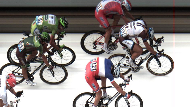 Kittel edged out Alexander Kristoff and Arnaud Demare