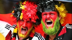 Some Germany fans even dyed their beautiful beards to show support