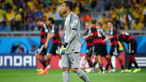 While Cesar looked dejected after having conceded five goals in the first 30' of play