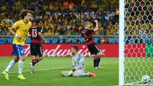 And Germany promptly continued their impressive rout. This time, it was forward Andre Schuerrle who found the back of the net at 69'