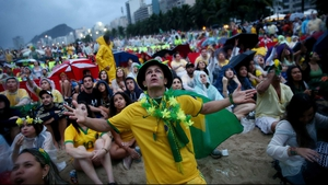Brazil fans in Rio beckoned toward the screen hoping for something, anything to lessen their pain and shock