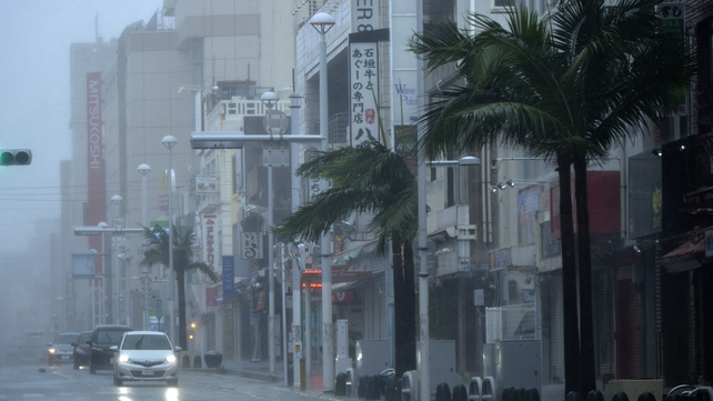 Typhoon Neoguri brought heavy rains and strong winds to Naha, Okinawa