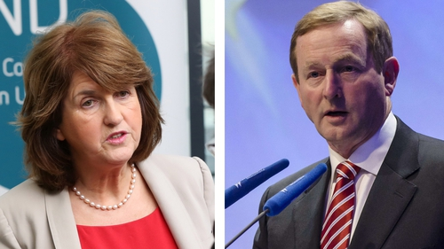 Joan Burton and Enda Kenny are understood to have been concentrating on policy areas