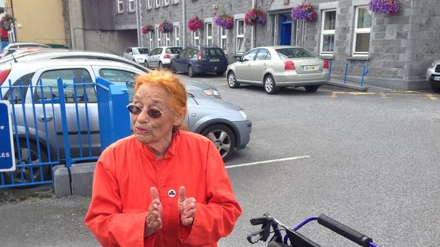 Margaretta D'Arcy presented herself at Mill Street Garda Station this morning