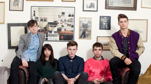 Little Green Cars play their biggest headline date this Saturday at Iveagh Gardens in Dublin (Faye and Stevie second and third from left)