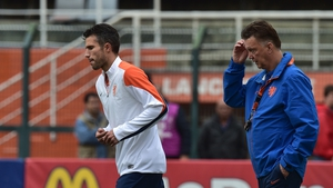 Dutch captain Robin van Persie has been struggling with a stomach problem