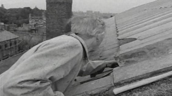 Final Slate on Kilmainham Jail Roof (1964)