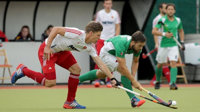Alan Sothern, seen here in action against England last week, scored twice against South Africa