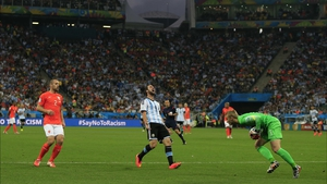 While Netherlands keeper Jasper Cillessen managed to wrangle a ball off the foot of Argentina forward Gonzalo Higuain