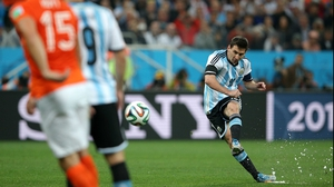 Messi took another unsuccessful free kick