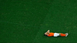 While Netherlands defender Daryl Janmaat seemed to let the tactical stalemate get the best of him