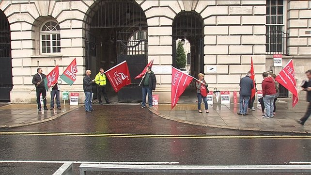 It is the first major public sector strike in Northern Ireland in several years