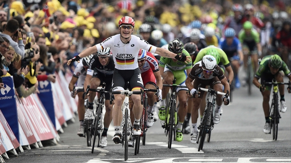 Andre Greipel comes home first
