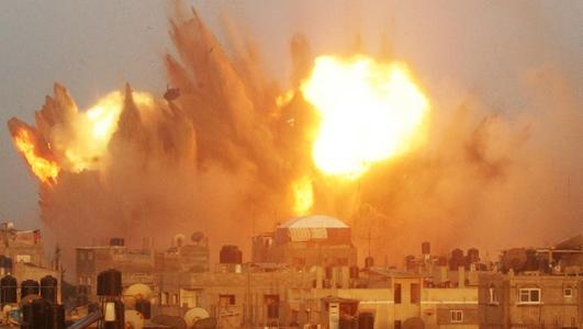 Israeli airstrikes in the city of Rafah, Gaza
