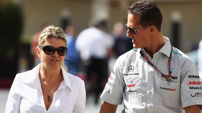Michael Schumacher with his wife, Corinna
