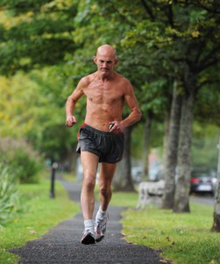 Shirtless Runner - a Dublin character