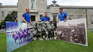 Luke Fitzgerald, Matt O'Connor and Sean O'Brien at the launch