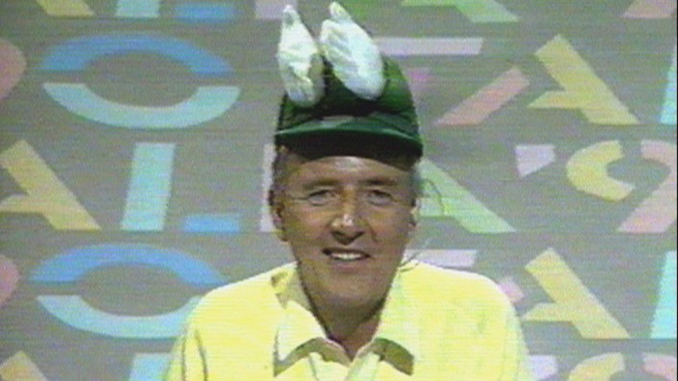 And here is Bill with a clap-hand hat during Italia '90
