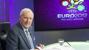 In the anchor's chair and ready for Euro 2012