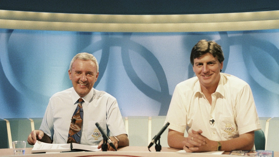 On the Olympics morning programme with Michael Lyster in 1992