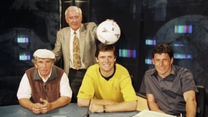 And seen here placing a ball on Niall Quinn's head in the same photo shoot