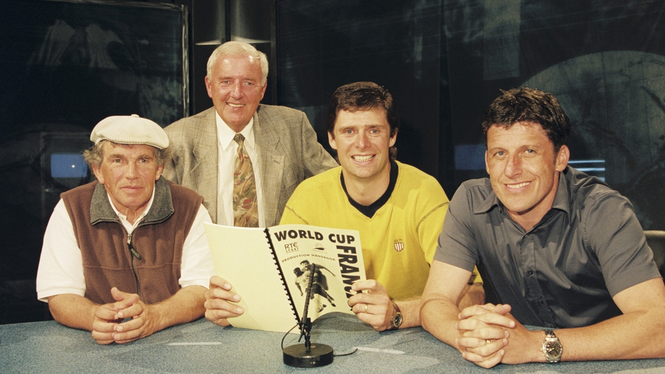 With a be-capped John Giles, Niall Quinn and Andy Townsend ahead of the France '98 World Cup