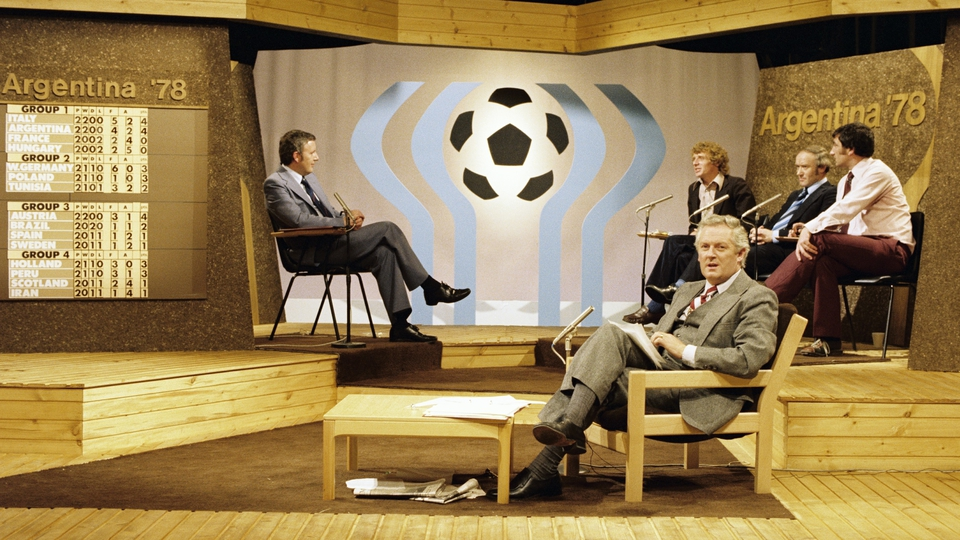 On set for the 1978 World Cup in Argentina