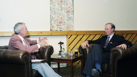Bill O'Herlihy and Jack Charlton