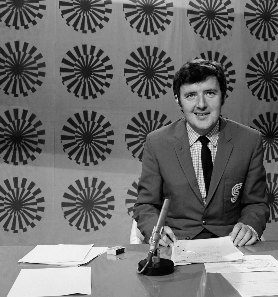 What a backdrop as Bill hones his anchoring skills in 1972