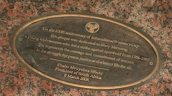 Plaque to Mary Manning