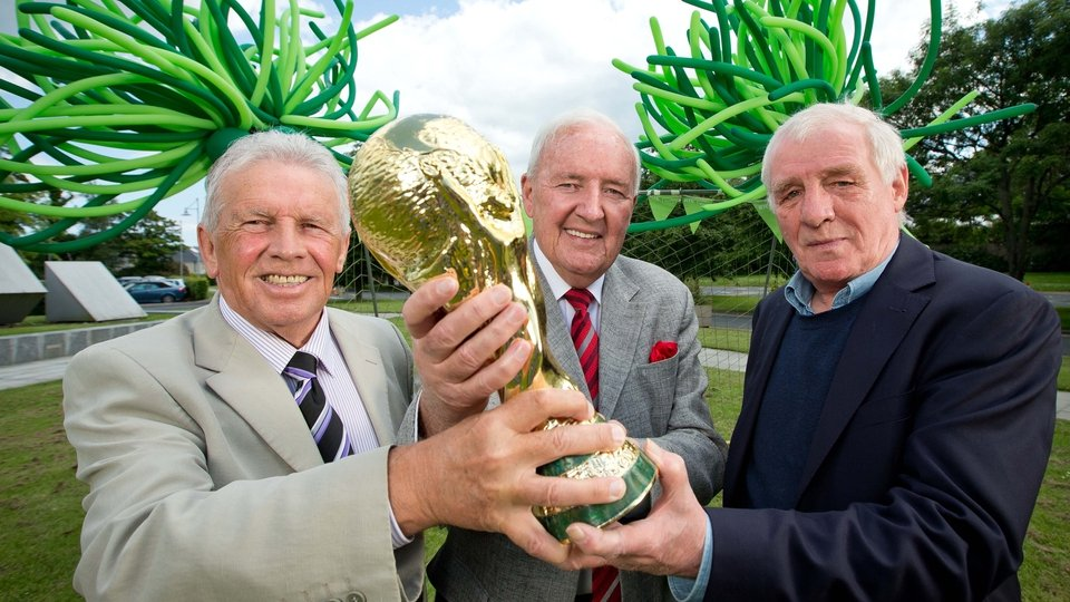 With John Giles and Eamon Dunphy ahead of the 2014 World Cup