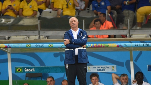 Under Scolari hosts Brazil finished a disappointing fourth
