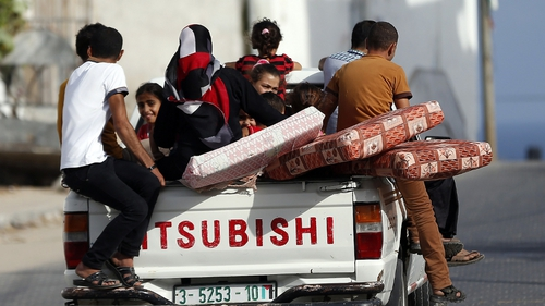 Israeli leaflets said civilians were 'requested' to evacuate their residences and move south