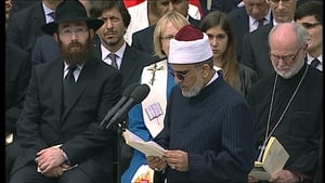An interfaith religious service was held to commemorate the dead