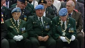 Veterans attend the memorial